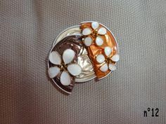 pendentif marron/orange