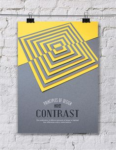 CONTRAST - Turkish designer, Efil Türk has given us a beautiful collection of hand made posters detailing the elements of design. Using a combination of techniques such as paper cutting and photo manipulation, she's provided us with a delightful series that isn't afraid to both enchant and educate.