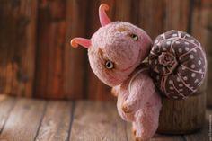 Teddy snail / Купить Розовая улитка 9 см! - мишки тедди, мишка тедди, купить мишку Тедди