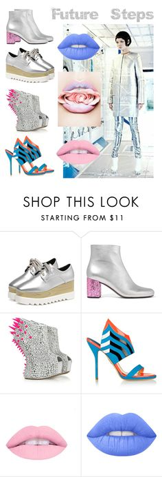 """Future Steps"" by beanpod ❤ liked on Polyvore featuring Yves Saint Laurent, Giuseppe Zanotti, Paul Andrew and Lime Crime"