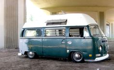 Slammed high top VW Early Bay Campervan