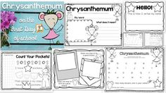 Ideas for Using Chrysanthemum on the First Day of School {FREEBIE} - First Grade Blue Skies Kindergarten First Week, First Grade Teachers, Kindergarten Reading, Teaching Reading, Teaching Ideas, First Grade Activities, Kindergarten Activities, Back To School Activities, Book Activities