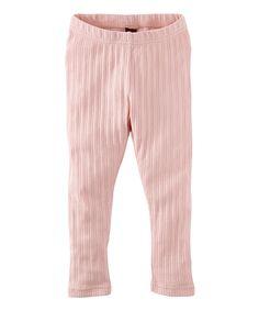 Look at this Pink Slipper Pointelle Leggings - Toddler