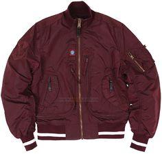 Куртка Dynamic Jacket Alpha Industries (темно-бордова) Розміри   S c836fc7a2343a