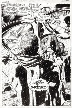 Gene Colan and Syd Shores Daredevil #58 Splash Page 4 Original Art (Marvel, 1969) [One of the greatest splash pages of all time. A book about a blind hero had one of the masters of the visual as its' artist...that's not irony...that's kismet...'nuff said]
