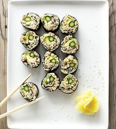 Asparagus  Avocado Sushi - Clean Eating - Clean Eating