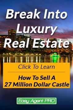 Looking to break into luxury real estate? Learn all you need to from one of the worlds biggest pro's.