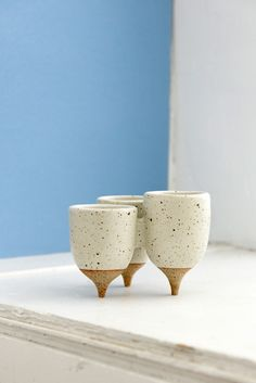 Handmade stoneware tripod cluster pot by Mickey Fielding, TerraForma Studio Ceramics, Los Angeles (photographed by@gregorygilmer, © 2016 all rights reserved)