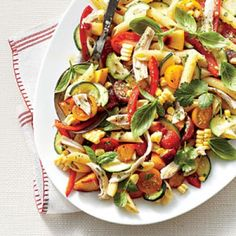 Shortcuts with Barbecue: Farmers' Market Pasta Salad