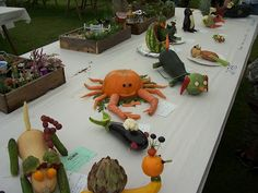 Bumble Bee Cottage: Guernsey North Show - Animals made from Vegetables