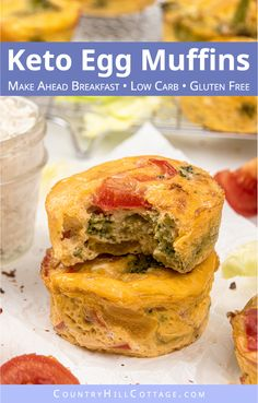 Easy Egg Muffins – Healthy/Low Carb Breakfast Muffin Recipe See how to make easy vegetarian egg muffins! Healthy make-ahead frittata muffin cups are greatr for Breakfast Egg Muffins Cups, Low Carb Egg Muffins, Egg Recipes For Breakfast, Healthy Muffins, Homemade Chocolate Chip Muffins, Healthy Low Carb Breakfast, Simple Muffin Recipe, Vegetarian Eggs, Muffin Cups