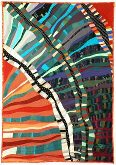 Running Through, Nancy Bardach, Fiber Artist I ran across this piece several months ago, but did not know the artist.   She has done a lot of great quilts!