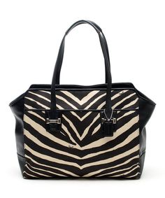 Love this Black & Tan Taylor Zebra Carryall Tote on #zulily! #zulilyfinds