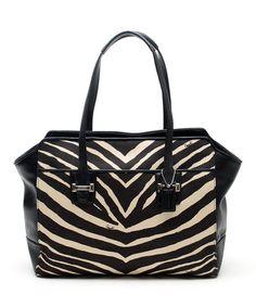 Look at this #zulilyfind! Black Taylor Zebra Carryall Tote by Coach, $280 !!   #zulilyfinds