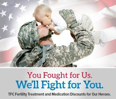 In appreciation for our United States Armed Forces members, Texas Fertility Center is proud to offer fertility treatment discounts for those in the military (and their spouses) who are currently on active duty or active reserve duty.