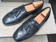 FLORSHEIM Used Black Leather Dress Loafers 9.5 M #Florsheim #LoafersSlipOns