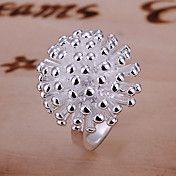 Elegant Zilveren Firework Ontwerp Ring – USD $ 2.99