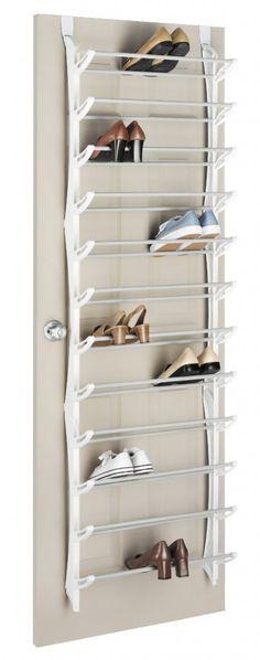 Whitmor 6486-1746-WHT over-the-door shoe rack Top 10 Best Shoe Racks In 2015 Reviews