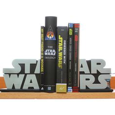 """Star Wars Bookends... Ummmm how come I don't already have these in my husband's """"Man cave""""??"""