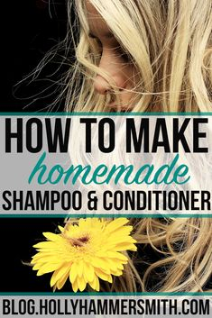 How to Make Homemade Shampoo: This recipe will teach you step by step how to make homemade shampoo and conditioner. The products are simple and effective and all natural. - Shampoo - Ideas of Shampoo Make Natural, Natural Beauty Tips, Natural Hair Styles, Natural Living, Homemade Shampoo And Conditioner, Diy Shampoo, Homemade Shampoo Recipes, Natural Shampoo Homemade, How To Make Conditioner