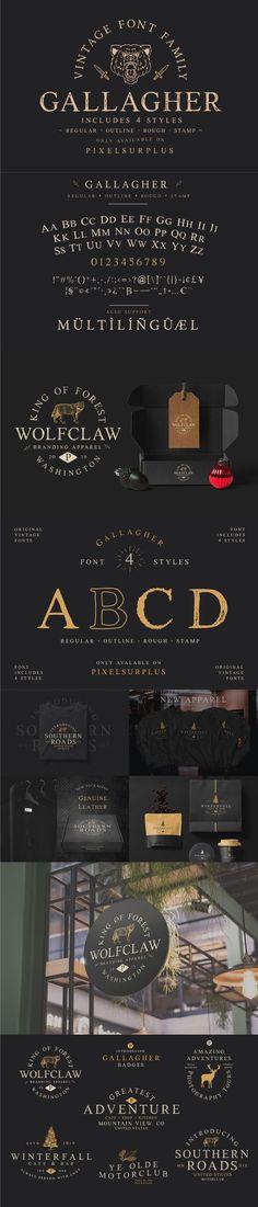 Vintage Fonts, Vintage Typography, Typography Fonts, Serif Font, Graphics Vintage, Free Svg Fonts, Free Cursive Fonts, Font Free, Sign Fonts