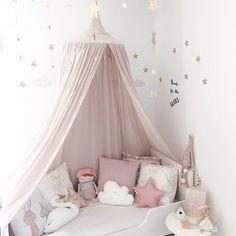 d5fadd5208 Barato 240 cm decoração do quarto do bebê casa cortina cama barraca de  algodão Pendurado Cúpula