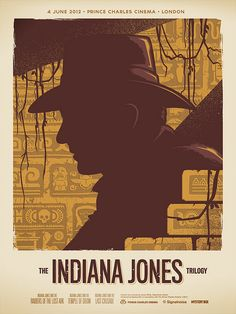 ASSIGNMENT: design/recreate a movie poster using simple shapes and forms. Also consider using a limited color pallet. Example by: Indiana Jones Trilogy poster by James White of Signal Noise. James White, Indiana Jones, Creative Poster Design, Creative Posters, Poster Designs, Design Posters, Poster Ideas, Movie Poster Art, Film Posters