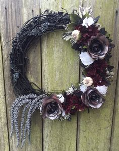 Black Wreath Mourning Wreath Halloween Wreath Black And
