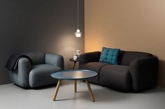 Furniture Ideas - Round Metal Coffee Tables / Metal coffee tables can be painted fun colors to help brighten your space and when they're paired with wood elements help warm up the feel of the room.