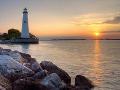 Tri-Centennial State Park Lighthouse, Detroit Michigan by friday1970, via Flickr