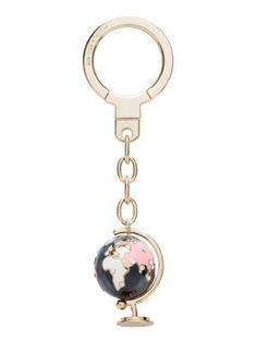 globe keychain - Kate Spade New York Lanyard Keychain, Cute Keychain, Lanyard Wallet, Key Fobs, Car Accessories, Key Rings, Girly Things, Jewelery, Creations