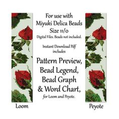 Loom Bead Patterns Loom Bracelet Pattern Loom Beading von ketzl
