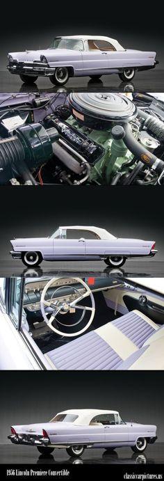 1956 Lincoln Premiere Convertible. Classic Cars: http://classiccarpictures.us/