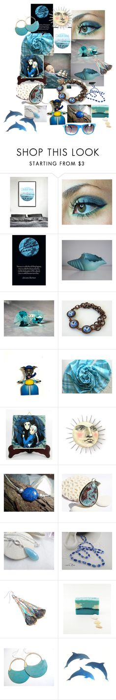 """""""Take me to the sea"""" by anna-recycle ❤ liked on Polyvore featuring Lazuli and Retrò"""