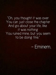 Eminem Bad guy i think not that sure Eminem Lyrics, Eminem Rap, Eminem Quotes, Rapper Quotes, Rap Lyrics, Song Lyric Quotes, Music Quotes, Breakup Lyrics, Eminem Funny