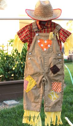 DIY Toddler Scarecrow Costume With RIT Dye - Happiness is Homemade