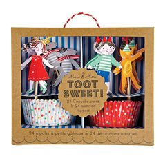 Meri Meri Children's Cupcake Kit, Toot Sweet: 24 cupcake cases and 24 cupcake toppers. Perfect for any party. Easy to use and assemble. Great for both boy and girl. Childrens Cupcakes, Kid Cupcakes, Sweet Cupcakes, Cupcake Party, Childrens Party, Decorated Cupcakes, Boy Birthday, Birthday Party Themes, Birthday Cake