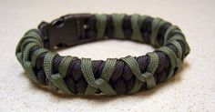 paracord projects | ... green paracord to add this outer wrap to a black paracord bracelet