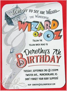 Wizard Of Oz Birthday Invitations Fancy Wizard Of Oz Birthday Invitations 38 For Your invitations wedding Ideas with Wizard Of Oz Birthday Invitations A Birthday Party, Birthday Party Invitations, Girl Birthday, Birthday Ideas, Toy Story Invitations, Invites, Wizard Of Oz, Party Time, Big Party