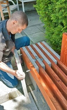 45 Best DIY Outdoor Bench Ideas for Seating in The Garden woodworking bench woodworking bench bench base bench diy bench garage workbench bench plans bench plans australia bench plans roubo bench plans sketchup Garden Seating, Outdoor Seating, Backyard Seating, Garden Benches, Garden Bench Seat, Timber Bench Seat, Fire Pit Seating, Outdoor Cafe, Fire Pit Table