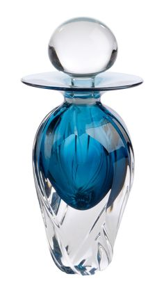 Studio Glass Bottle Murano style bottle that is signed by the artist. Made in This studio glass bottle is ornamental, but essentially it is … Cut Glass, Glass Art, Bottle Images, Antique Perfume Bottles, Beautiful Perfume, Bottle Art, Glass Bottles, Wine Bottles, Art Nouveau