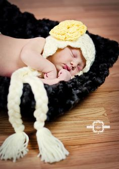 Crochet Braided Ruffle Flower Hat by LoveyBuggies on Etsy, $25.00