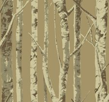 Birch Trees Wallpaper from Eco Chic in Sandpiper Studios EH61007