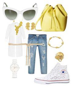 """City Walker Shirtdress"" by bvn01 ❤ liked on Polyvore featuring MANGO, Frame Denim, Valentino, Converse, Lacoste, Dolce&Gabbana, Carrera y Carrera, Rado and shirtdress"