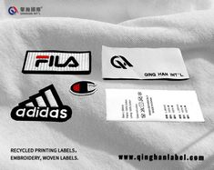 Recycled printing labels, recycled woven labels, recycled embroidery patches, Recycling series, pay attention to environmental protection, pay attention to our home