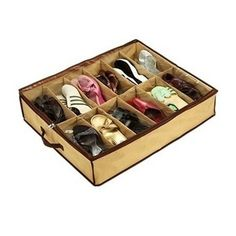 Keep your shoes well organised in your closet with the Under Bed Store shoe organiser! Store and hide things in a clean and safe way thanks to Under Bed Store. The Under Bed Store shoe organiser has 12 compartments to store your shoes or folded cl. Shoe Storage Organiser, Storage Boxes, Cheap Storage, Storage Baskets, Bag Storage, Storage Spaces, Storage Organization, Storage Ideas, Sock Storage