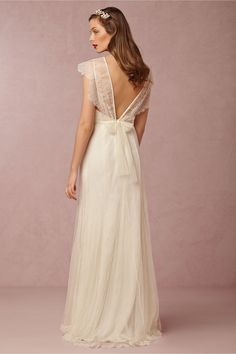 Tallis Gown from @BHLDN. Love the back of this dress.