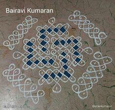 Rangoli Borders, Rangoli Kolam Designs, Rangoli Designs With Dots, Kolam Rangoli, Beautiful Rangoli Designs, Simple Rangoli, Kolam Dots, Churidar Neck Designs, Side Borders