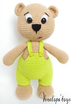 Amigurumi Bear Pattern, Crochet Bear Pattern, Amigurumi Teddy Bear, Teddy Crochet Pattern, Bear Knitting Pattern