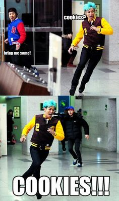 Kekekekekke...I love seeing T.O.P smile while running...such a cutie!!! Loved that episode of running man.